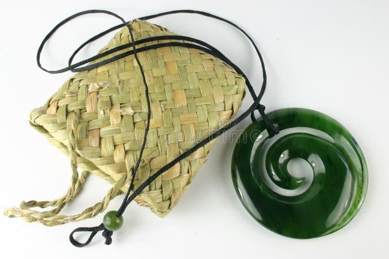De gesneden Tegenhanger van de Jade stock afbeelding