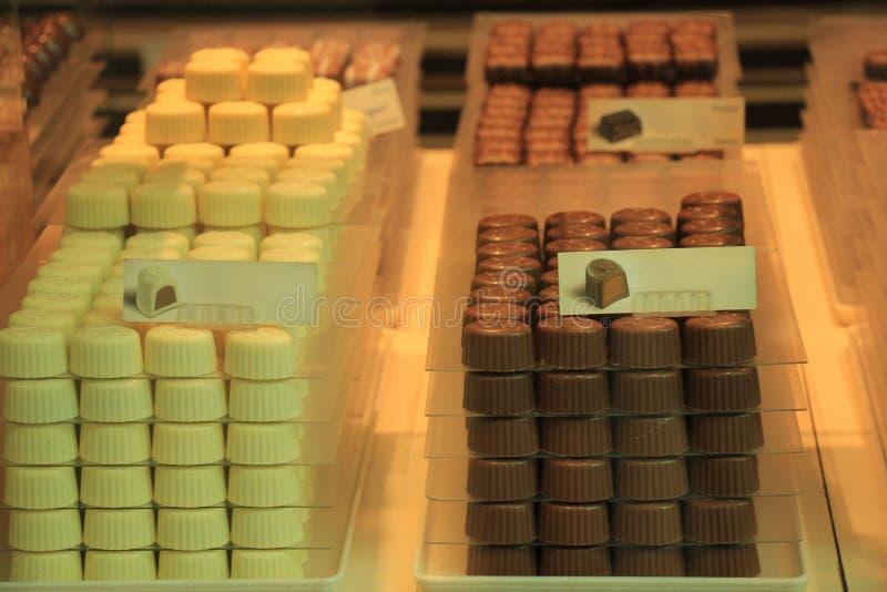 De gestapelde chocolade van België royalty-vrije stock fotografie