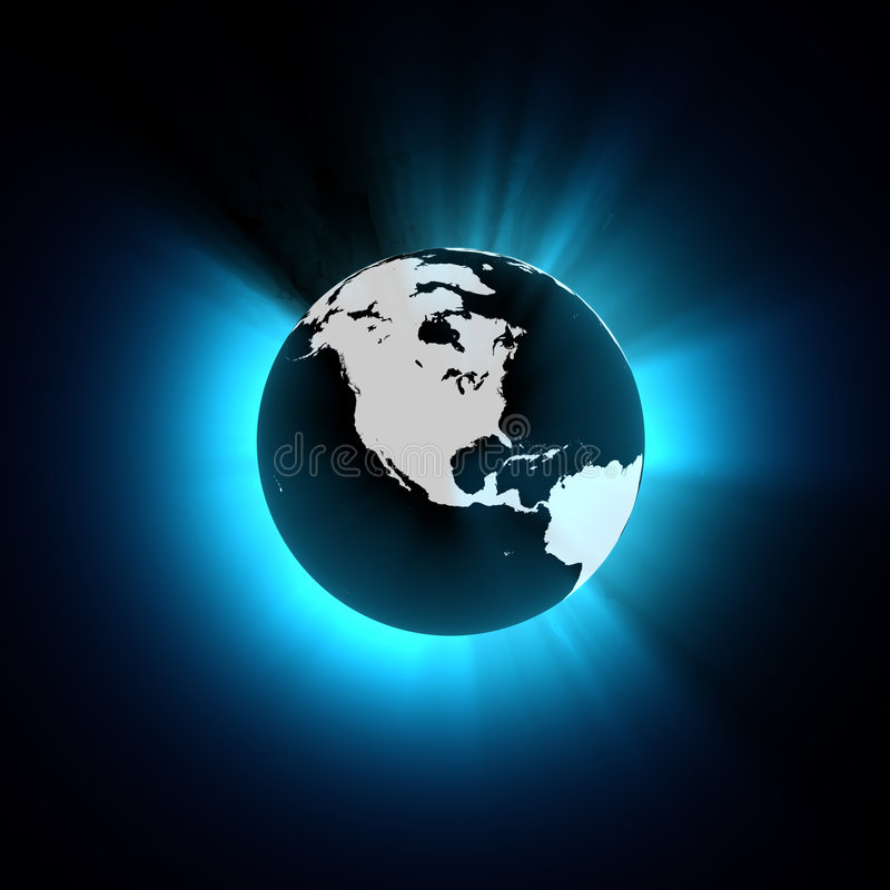 De Gestileerde Aarde van CG - de mening van Noord-Amerika vector illustratie