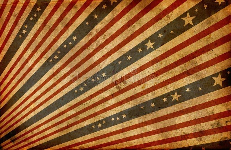 De gestileerde Amerikaanse vlag van Grunge royalty-vrije illustratie