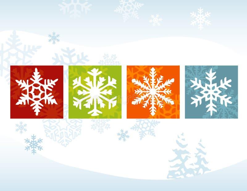De gestileerde Rug van de Winter van de Sneeuwvlok vector illustratie