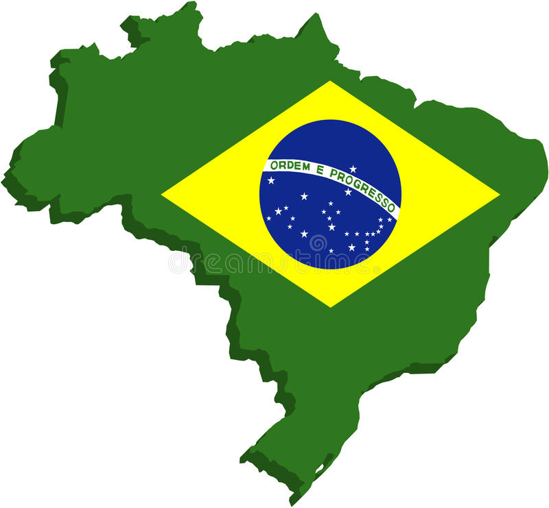 De gestileerde vlag van Brazilië stock foto