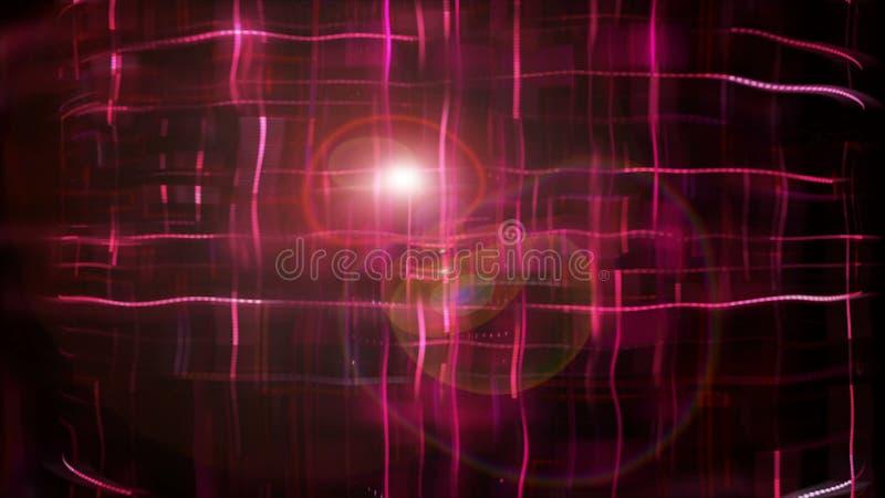 De gestippelde heldere abstractie met 3d effect van vervorming, geeft achtergrond, geproduceerde terug computer stock illustratie