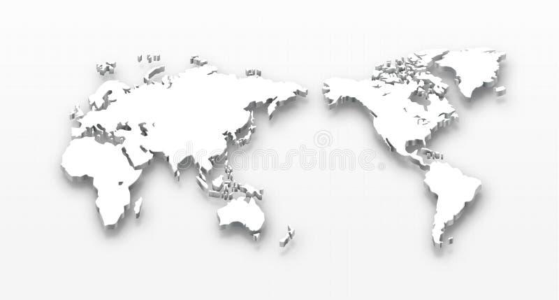 De gestippelde Kaart van de Wereld stock illustratie