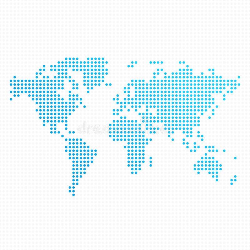 De gestippelde Kaart van de Wereld royalty-vrije illustratie