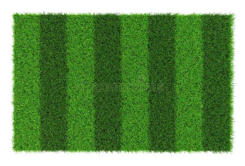 De gestreepte textuur van het voetbalgebied, achtergrond met exemplaar ruimte hoogste die mening - op witte achtergrond wordt geï royalty-vrije stock foto's