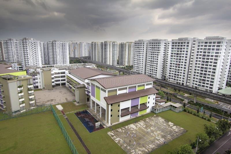 De Gesubsidieerde lage school en de Huisvesting van Singapore royalty-vrije stock fotografie