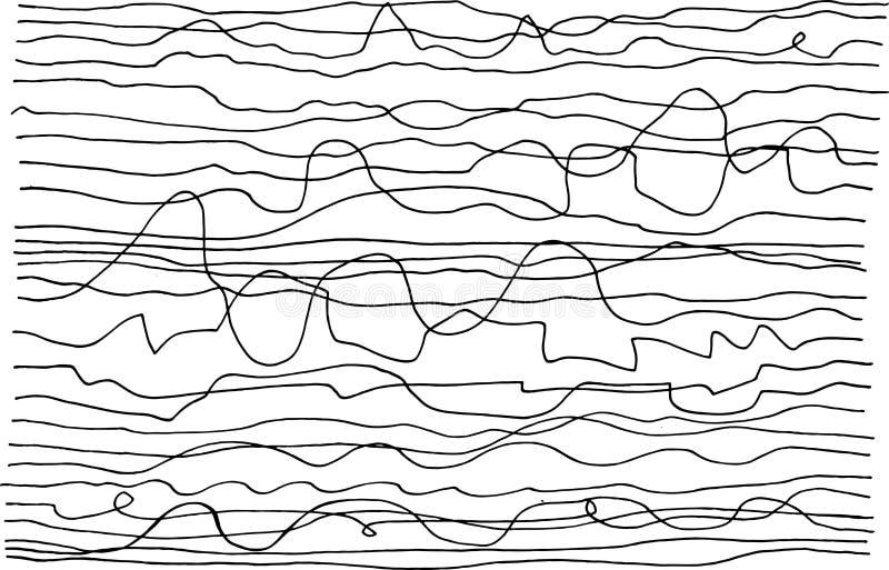 De getrokken textuur van de Grungeinkt hand met strepen Zwart-witte achtergrond voor ontwerp De stijl van de straatkunst Het art. royalty-vrije illustratie