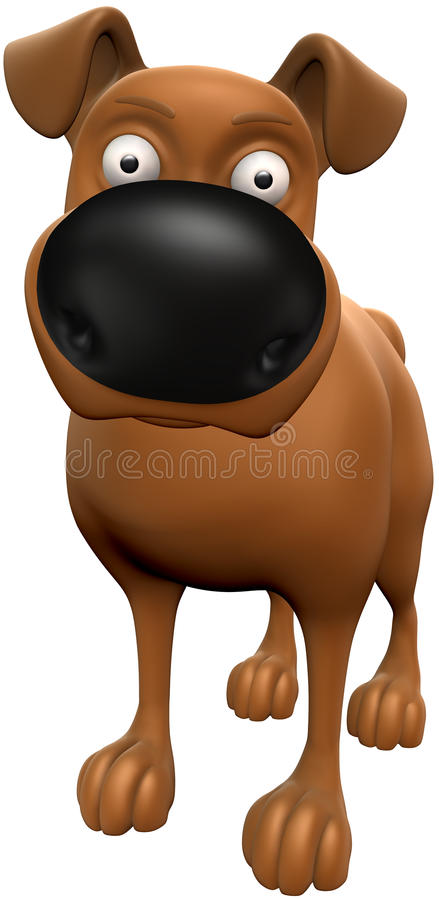 De Geur van de hond royalty-vrije illustratie