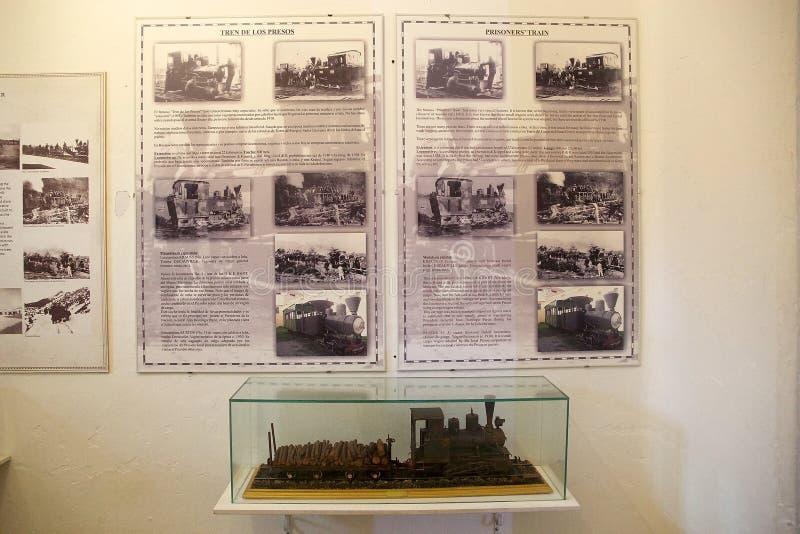 De gevangenen leiden bij Maritiem, de Gevangenis en het Antarctische Museum in Ushuaia, Argentinië op stock foto's