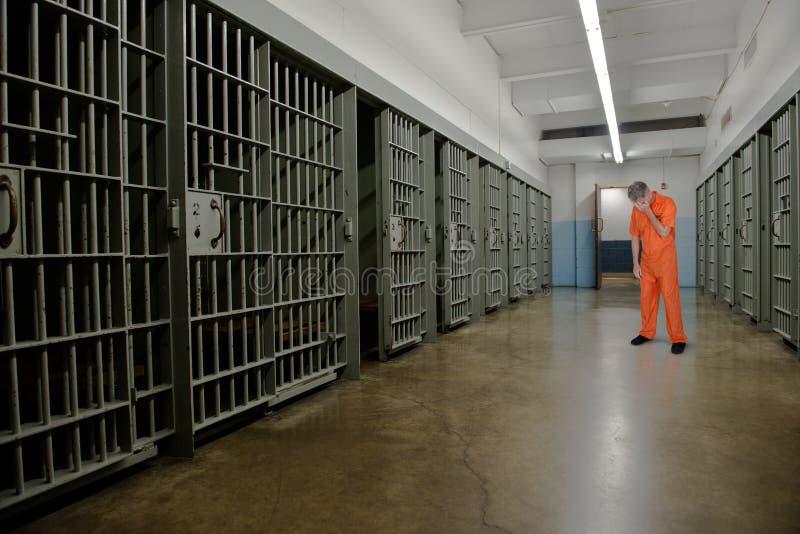 De gevangenis, Gevangenis, Misdadiger, veroordeelt, Gevangene, Cel royalty-vrije stock foto