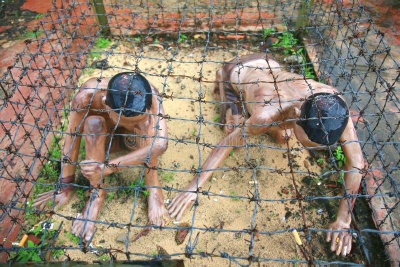 De Gevangenis van Phuquoc door de Franse kolonisten om die gevangen te zetten speciaal beschouwd aan als gevaarlijk royalty-vrije stock fotografie