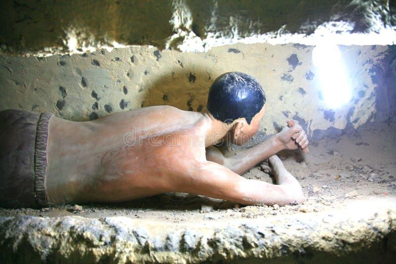 De Gevangenis van Phuquoc door de Franse kolonisten om die gevangen te zetten speciaal beschouwd aan als gevaarlijk stock afbeeldingen