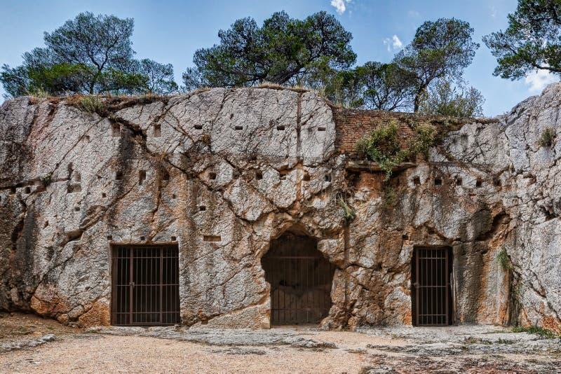 De Gevangenis van Socrates, Griekenland stock afbeelding