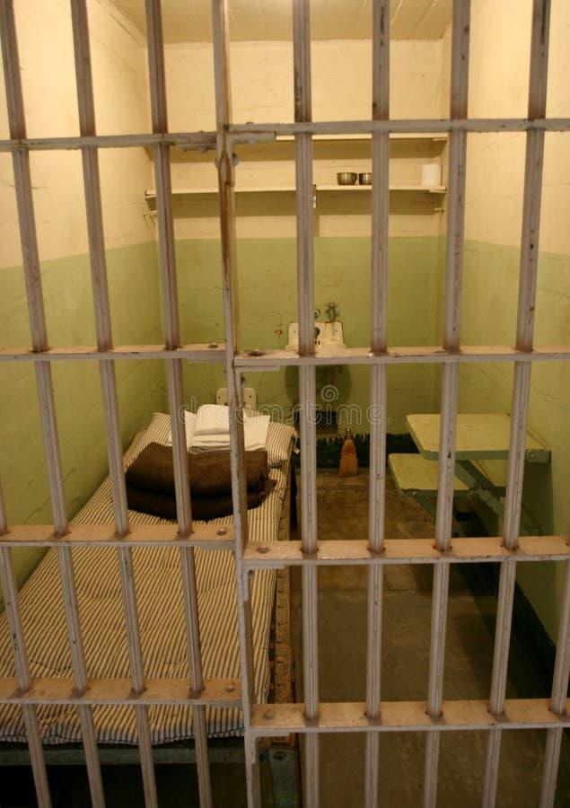 De gevangeniscel van Alcatraz royalty-vrije stock fotografie