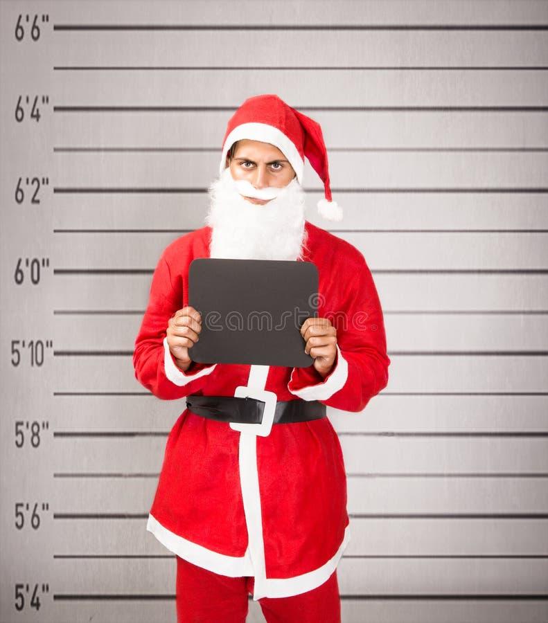 De gevangenisonderbreking van de Kerstman royalty-vrije stock fotografie