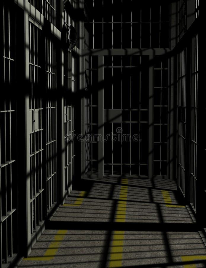 De Gevangeniszaal van de gevangeniscel Illustratie royalty-vrije illustratie