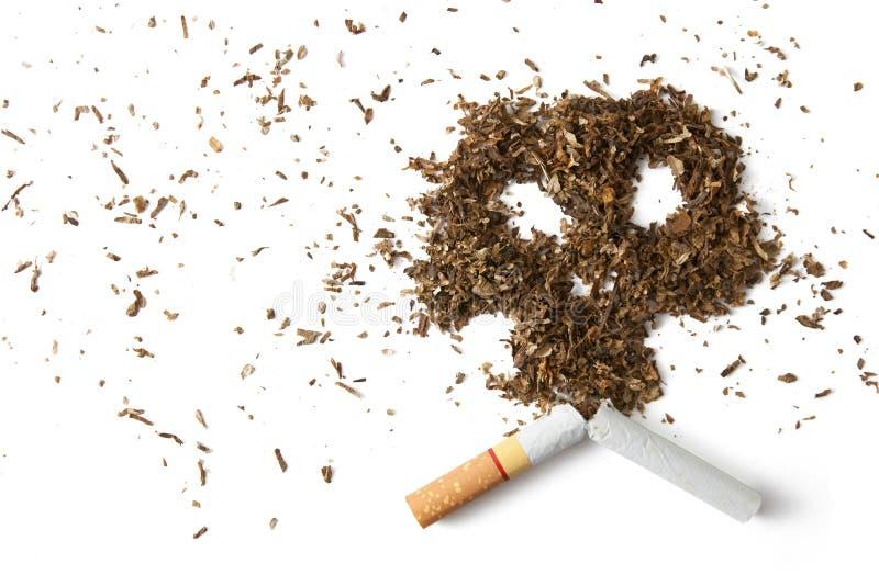 De gevaren om te roken stock fotografie