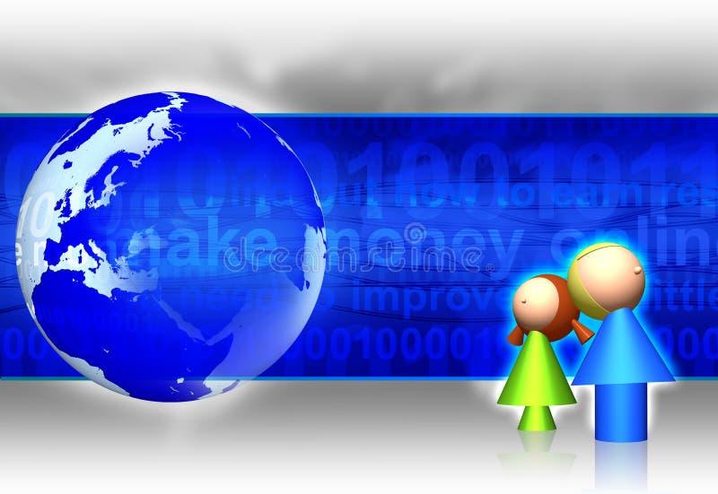 De gevaren van Internet royalty-vrije illustratie