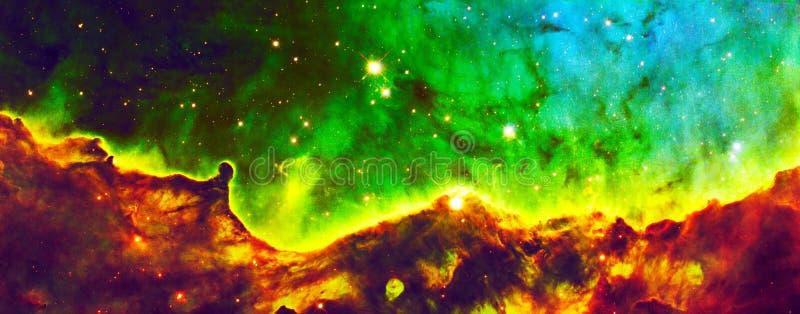 De geverfte Hubble Expanse Cloud Nebula Enhanced-Elementen van het Heelalbeeld van NASA/ESO | Melkweg Achtergrondbehang stock foto