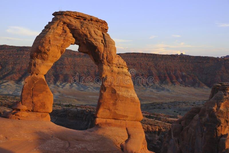De gevoelige Boog is waarschijnlijk de beroemdste boog in de wereld Utha, de V.S. stock afbeelding