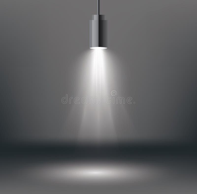 De Gevolgen van de scèneverlichting met Schijnwerper vector illustratie