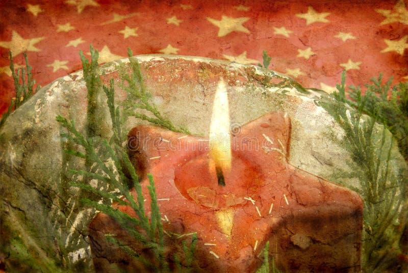 De gevormde kaars van Grunge ster stock fotografie
