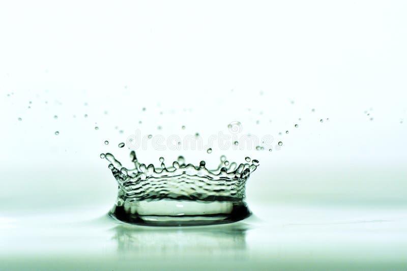De gevormde kroon van het water druppel royalty-vrije stock fotografie