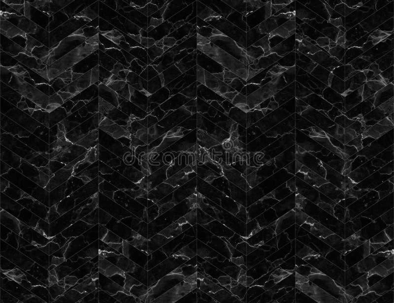 De gevormde zwart-witte achtergrond van de chevronzigzag marmer stock fotografie