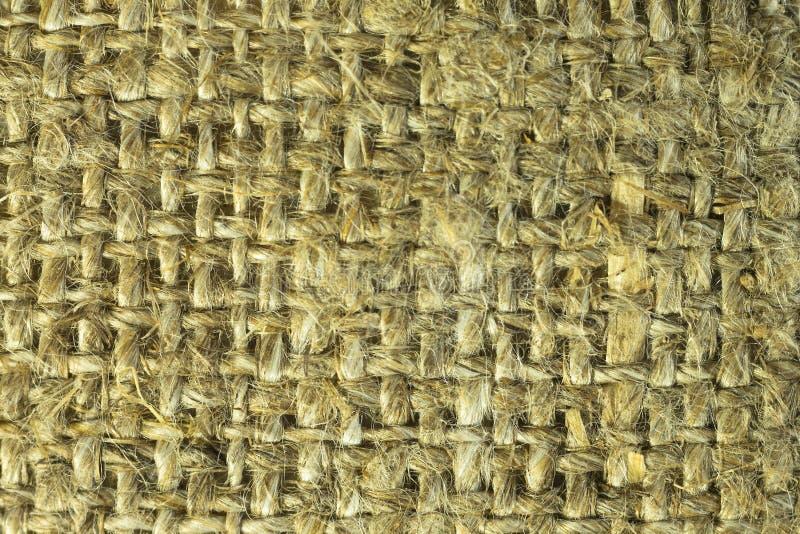 De geweven achtergrond van de jute stock foto