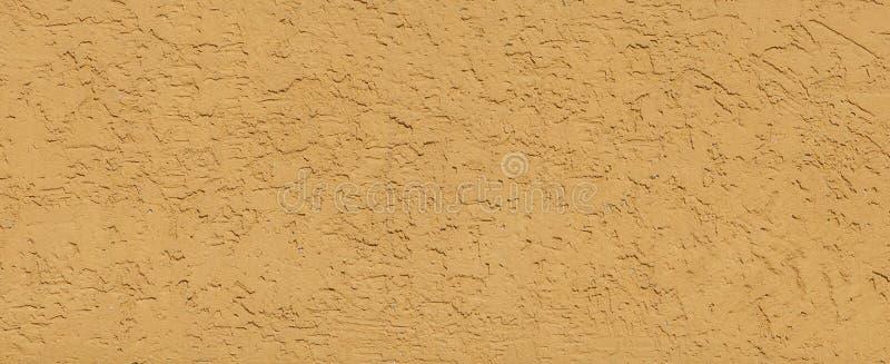 De geweven Gele Achtergrond van de Pleistermuur De structurele Venetiaanse Muur is met klaar het Behandelen van Achtergrond Ommuu stock fotografie