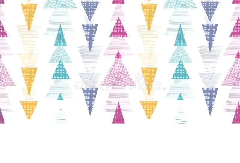 De geweven horizontale naadloze grens van pijlenstrepen royalty-vrije illustratie