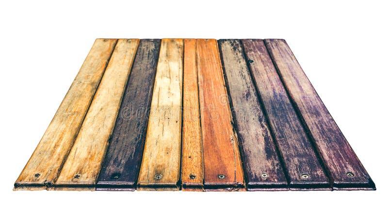 De geweven houten achtergrond van het korrelperspectief Geïsoleerd op wit royalty-vrije stock foto