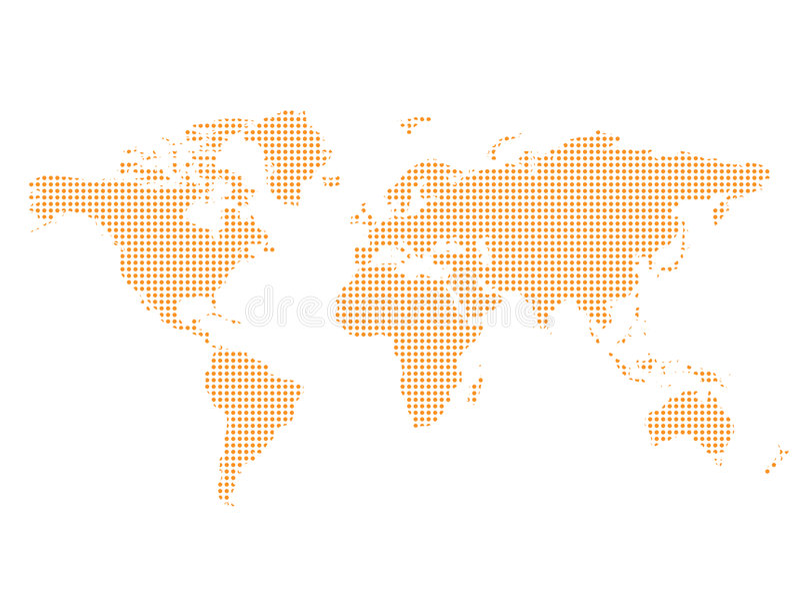 De Geweven kaart van de wereld - vector illustratie