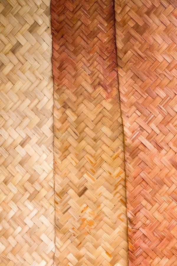 De geweven overlapping van bamboemuren royalty-vrije stock foto
