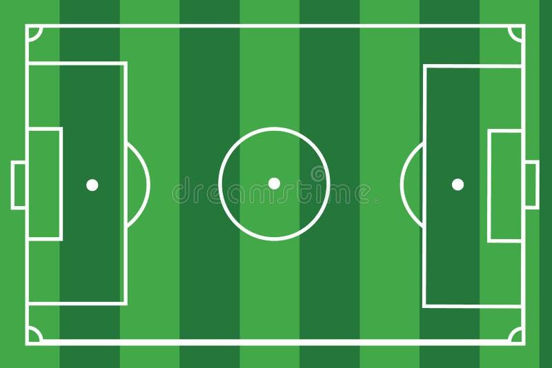 De geweven Vectorillustratie van de grasvoetbal Groen voetbalgebied, stadion stock illustratie