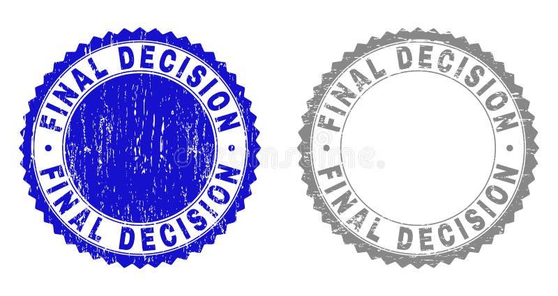 De Geweven Watermerken van het Grunge DEFINITIEVE BESLUIT vector illustratie