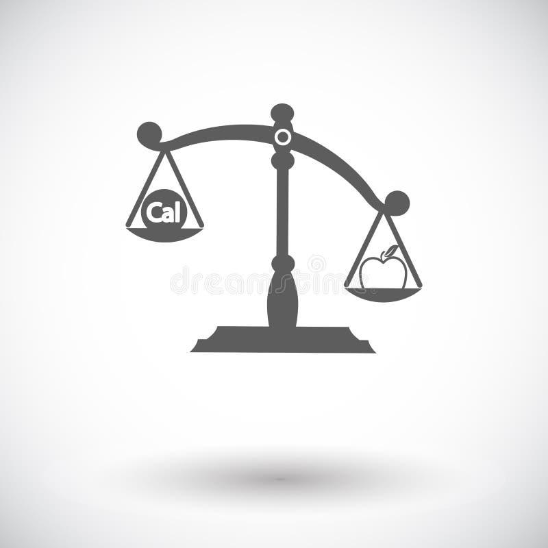 De gewichten kiezen vlak pictogram uit stock illustratie