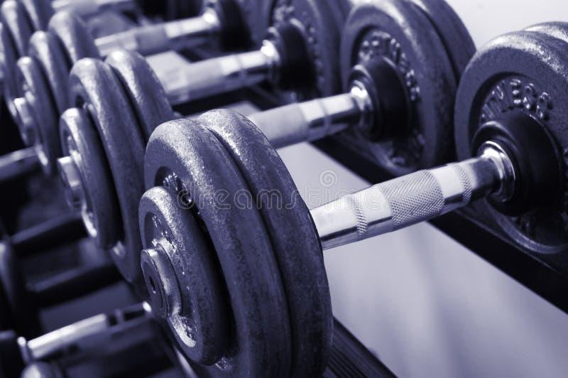 De Gewichten van de gymnastiek stock foto's