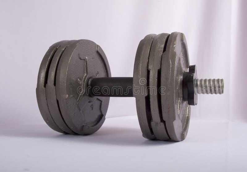 De Gewichten van de oefening stock afbeeldingen