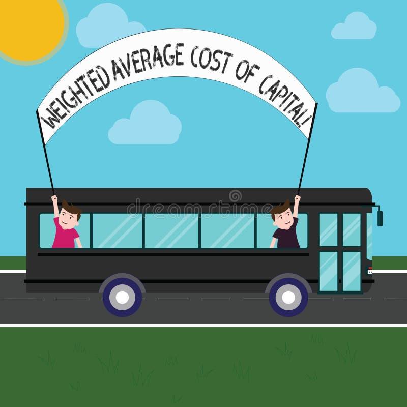 De Gewogen gemiddelde kostprijs van de handschrifttekst van Kapitaal Concept die van Bedrijfs wacc financiële indicatoren beteken royalty-vrije illustratie