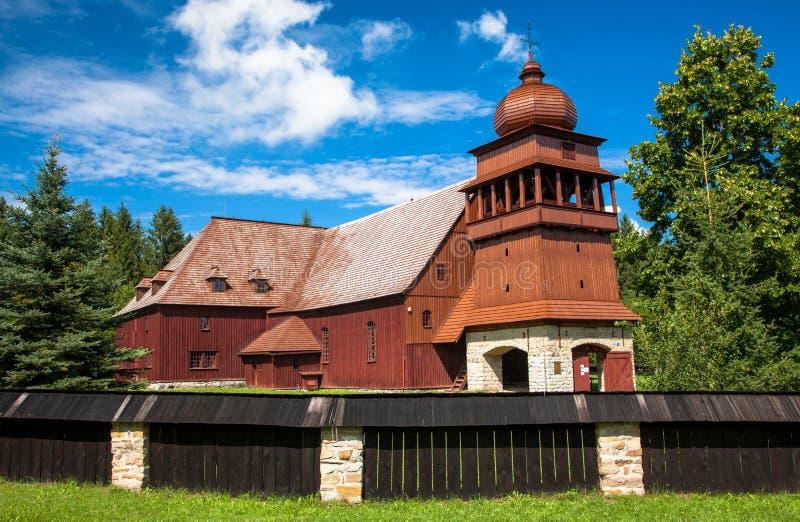 De Gewrichts Houten Kerk - Svaty Kriz, Slowakije royalty-vrije stock foto