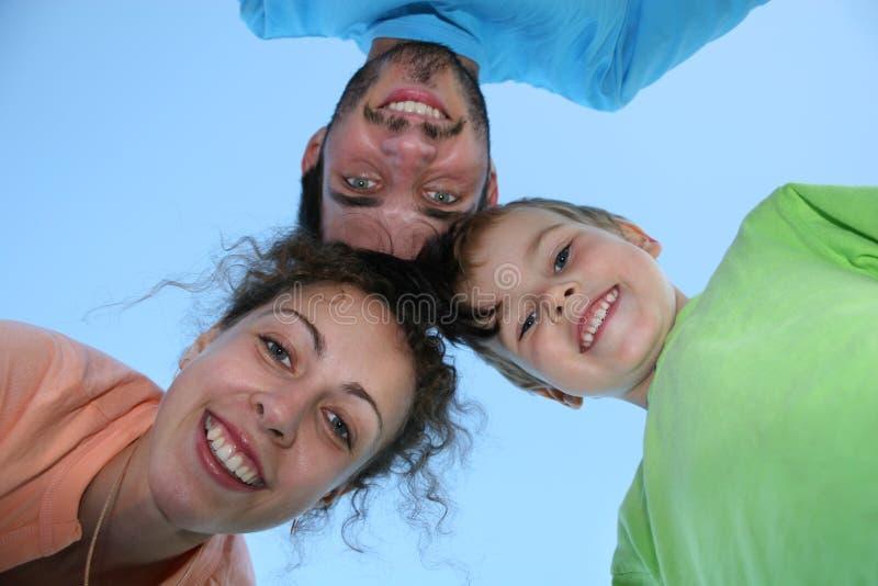 De gezichten van de familie stock afbeeldingen