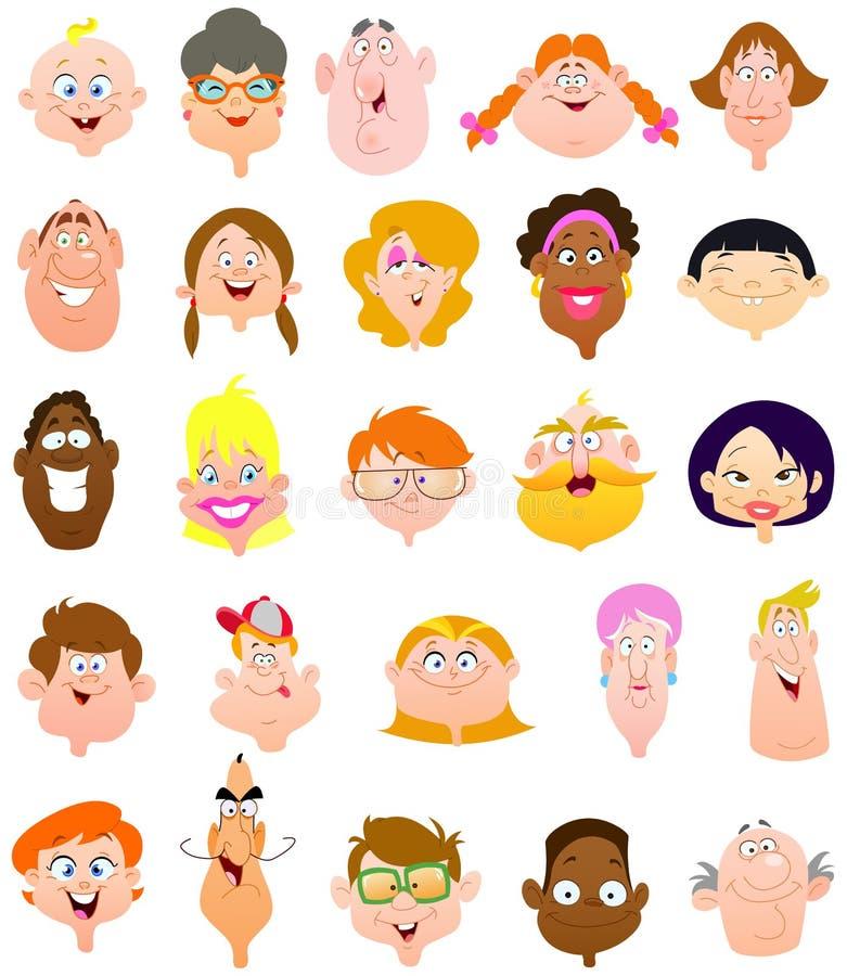 De gezichten van mensen stock illustratie