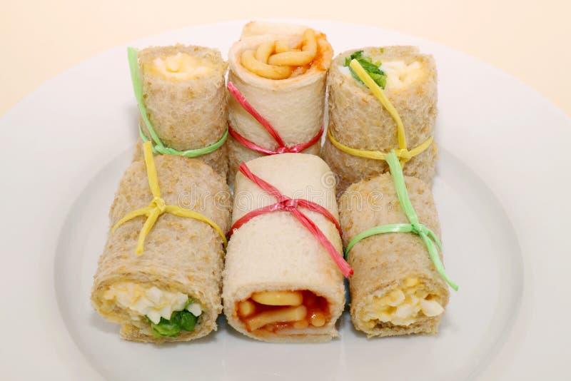 De gezonde Broodjes van de Sandwich stock afbeeldingen