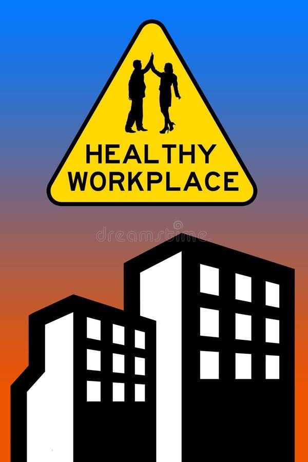 De gezonde collega's van het werkplaatsbureau vector illustratie