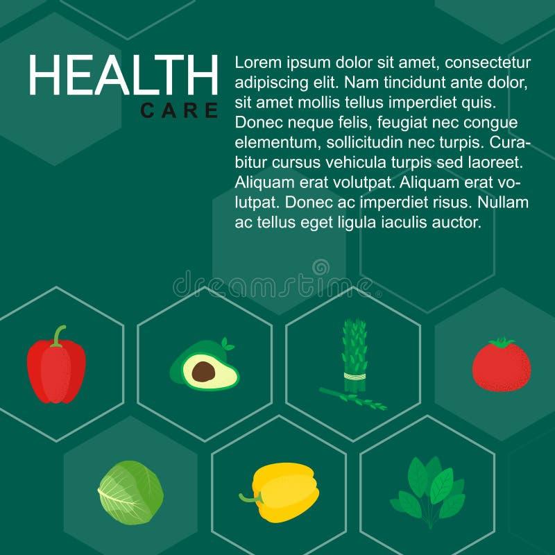 De gezonde geïsoleerde groenten van het voedselpictogram royalty-vrije illustratie