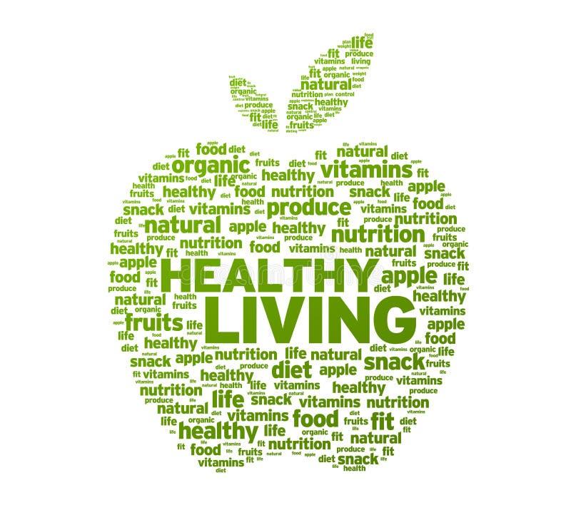 De gezonde het Leven Illustratie van de Appel stock illustratie