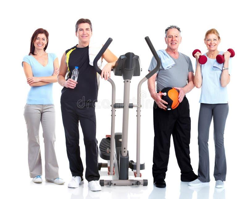 De gezonde mensen groeperen zich. stock afbeeldingen