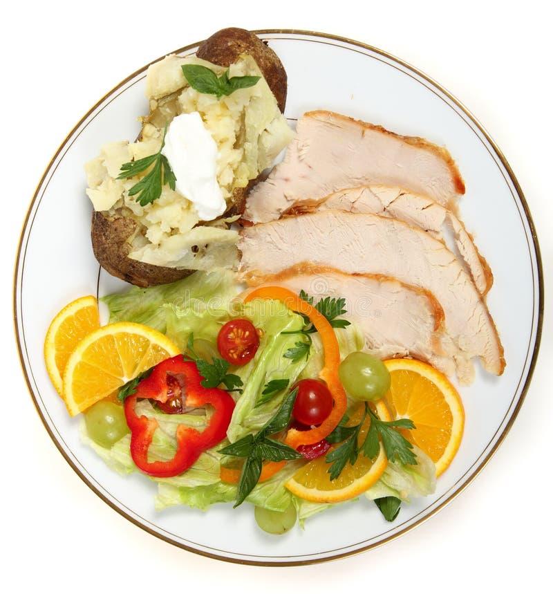 De gezonde salade van Turkije royalty-vrije stock foto
